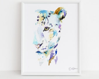 "Leopard Print, | ""Leopard"" by Jess Buhman, Multiple Sizes, Select Your Size, Nursery Painting"