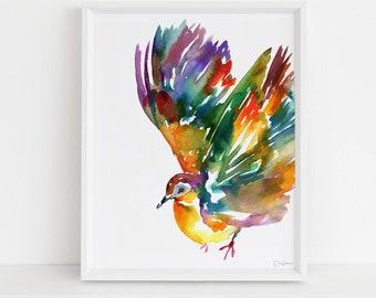 "Watercolor Dove Print  | ""Felinda Takes Flight"" by Jessica Buhman, Multiple Sizes, Dove Art, Watercolor Bird, Bird Art, Dove Painting"