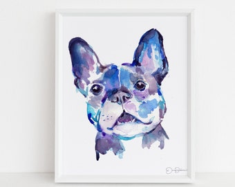 """French Bulldog Dog Print 