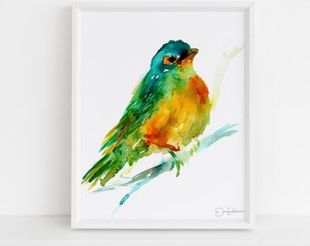 """Bird Watercolor Print 