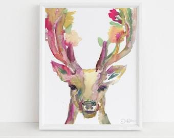 "Deer Print Instant Download | ""You Are Deer To Me"" by Jess Buhman, Print at Home, Digital File, Watercolor Deer Print 8"" x 10"""