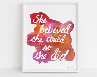 """Feminist Watercolor Digital Print 