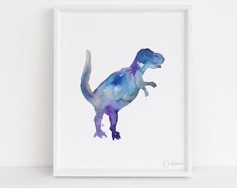 "Tyrannosaurus Rex Watercolor Print   ""Mr. T"" by Jess Buhman, Choose Your Size, Select Your Size, Dinosaur Art"