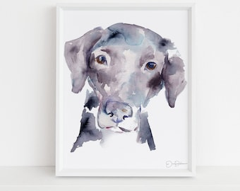 "Labrador Watercolor Print Instant Download | ""Black Lab"" by Jess Buhman, 8"" x 10"" Digital File, Print at Home, Dog Lover Gift"