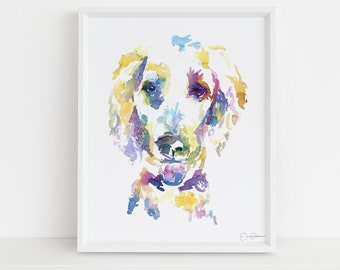"""Poodle Watercolor Print 