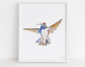 "Hummingbird Watercolor Print | ""Blackchinned Hummingbird"" by Jess Buhman, Multiple Sizes, Select Your Size, Desert Animal Print"