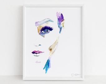 "Watercolor Woman Digital Download | ""Sophie"" by Jess Buhman, Instant Download, Print at Home, 8"" x 10"" Print, Downloadable Art, Gift Idea"