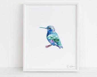 "Hummingbird Print | ""Baby"" by Jess Buhman, Digital Download, Print Yourself, Bird Painting, Wall Art, Home Decor"