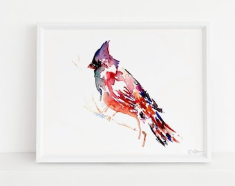 "Cardinal Watercolor Digital Download | ""The Cardinal Rule"" by Jess Buhman, Instant Download, Digital File, Print at Home, Bird Painting"