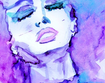 """Print of Original Watercolor Painting """"Shake It Out"""" by Jessica Buhman 8 x 10"""