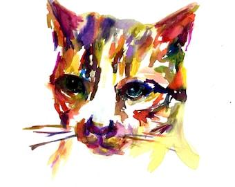 Cat Watercolor Art Print, Print of Cat Painting, Watercolor Cat, Pet Painting, Pet Illustration, Cat Painting, Cat Print, Watercolor Print