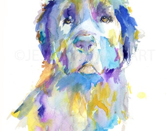 Oakley by Jessica Buhman, Print of Watercolor Painting, Leonberger Dog Print 8 x 10