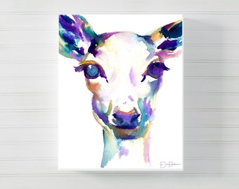 "Deer Canvas Print | ""What A Deer"" by Jess Buhman, Multiple Sizes, Select Your Size, Nursery Decor, Holiday Art"