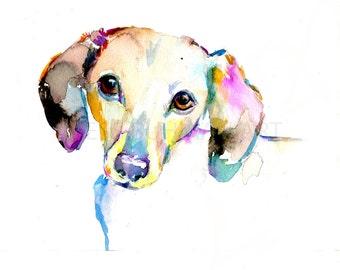 Dachshund Watercolor Print, Print of Dachshund, Dachshund Painting, Watercolor Dog Print, Dog Painting, Dog Watercolor Art, Print of Dog
