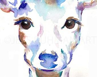 Deer Watercolor Painting Print, Deer Painting, Print of Deer, Nursery Art, Watercolor Art, Watercolor Print, Deer Print, Deer Wat