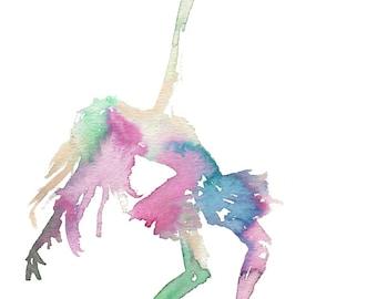 Watercolor Dancer Painting, Watercolor Ballerina, Dance Art, Print of Watercolor, Dancing Art, Ballet Painting, Watercolor Dancer, Fine Art