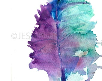 """Watercolor Leaf Print 