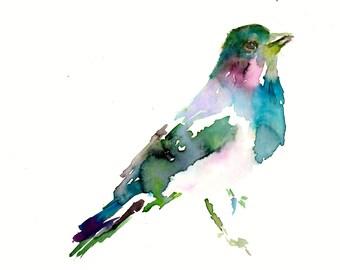 Waterbolor Bird Print, Abstract Bird Painting, Print of Bird, Abstract Watercolor Print, Watercolor Bird Art, Fine Art Bird Painting