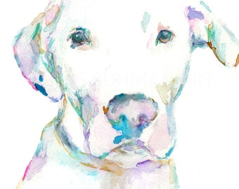 """Watercolor Dog Painting, """"Dooey"""" by Jessica Buhman Print of Dog, Dog Painting, Watercolor Dog, Print of Dog, Print of Pet, Pet Painting"""