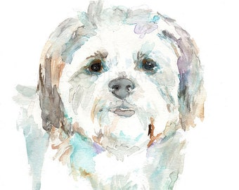 """Maltese Dog Watercolor Print, """"Maltese"""" by Jess Buhman, Select Your Size, Choose Your Size"""