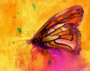 Butterfly Watercolor Print, Print of Butterfly, Butterfly Illustration, Watercolor Butterfly, Nursery Art, Monarch Painting, Animal Painting