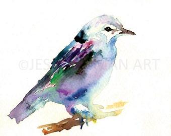 Bird Watercolor Print, Watercolor Animal Print, Bird Painting, Bird Illustration, Abstract Bird Art, Print of Bird, Bird Watercolour