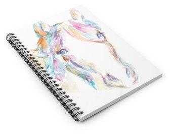 "Horse Hummingbird Watercolor Notebook, Personal Journal, Artwork by Jess Buhman, ""Hugo the Horse"", Horse Painting"