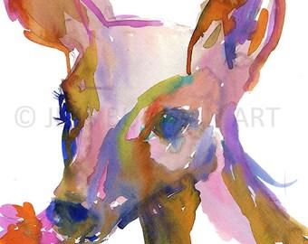 Deer Watercolor Print, Nursery Print, Watercolor Deer Painting, Nursery Painting, Nursery Watercolor, Animal Painting, Animal Print