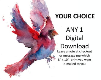 """Watercolor Instant Download Print, Your Choice of 8"""" x 10"""" Print by Jess Buhman, 8"""" x 10"""" Digital File, Printable Art"""