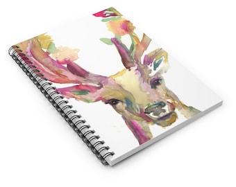 """Deer Watercolor Notebook, Personal Journal, Artwork by Jess Buhman, """"You Are Deer To Me"""", Buck Painting, Watercolor Buck Art, Antlers Art"""