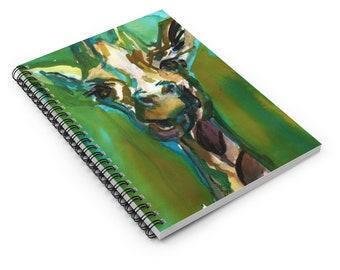 "Giraffe Watercolor Notebook, Personal Journal, Artwork by Jess Buhman, ""Hey You Guys!"", Giraffe"