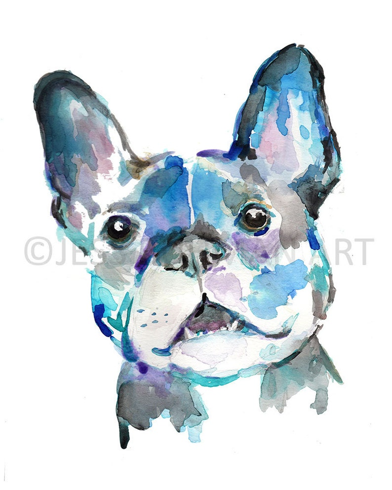 French Bulldog Print Dog Painting Print Select Your Size Multiple Sizes French Bulldog by Jess Buhman
