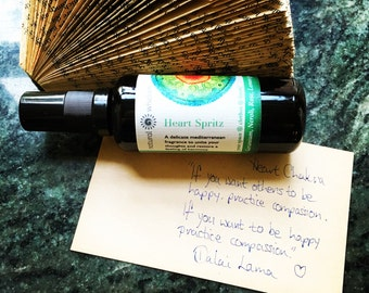 Heart Chakra Spray Perfume Spritz (Anahata Chakra) A fresh floral natural perfume spray with a cirus twist.