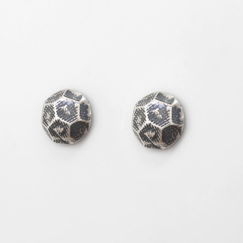 aa579aed9 Hardware Sterling Silver Stud Earrings for Men and Women. | Etsy