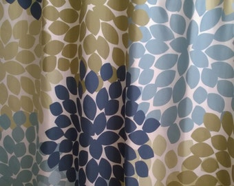 Shower Curtain In Blue And Green Moth Inspired Floral Standard Long Lengths 70 74 78 84 96 Or Lets Make One Your Colors