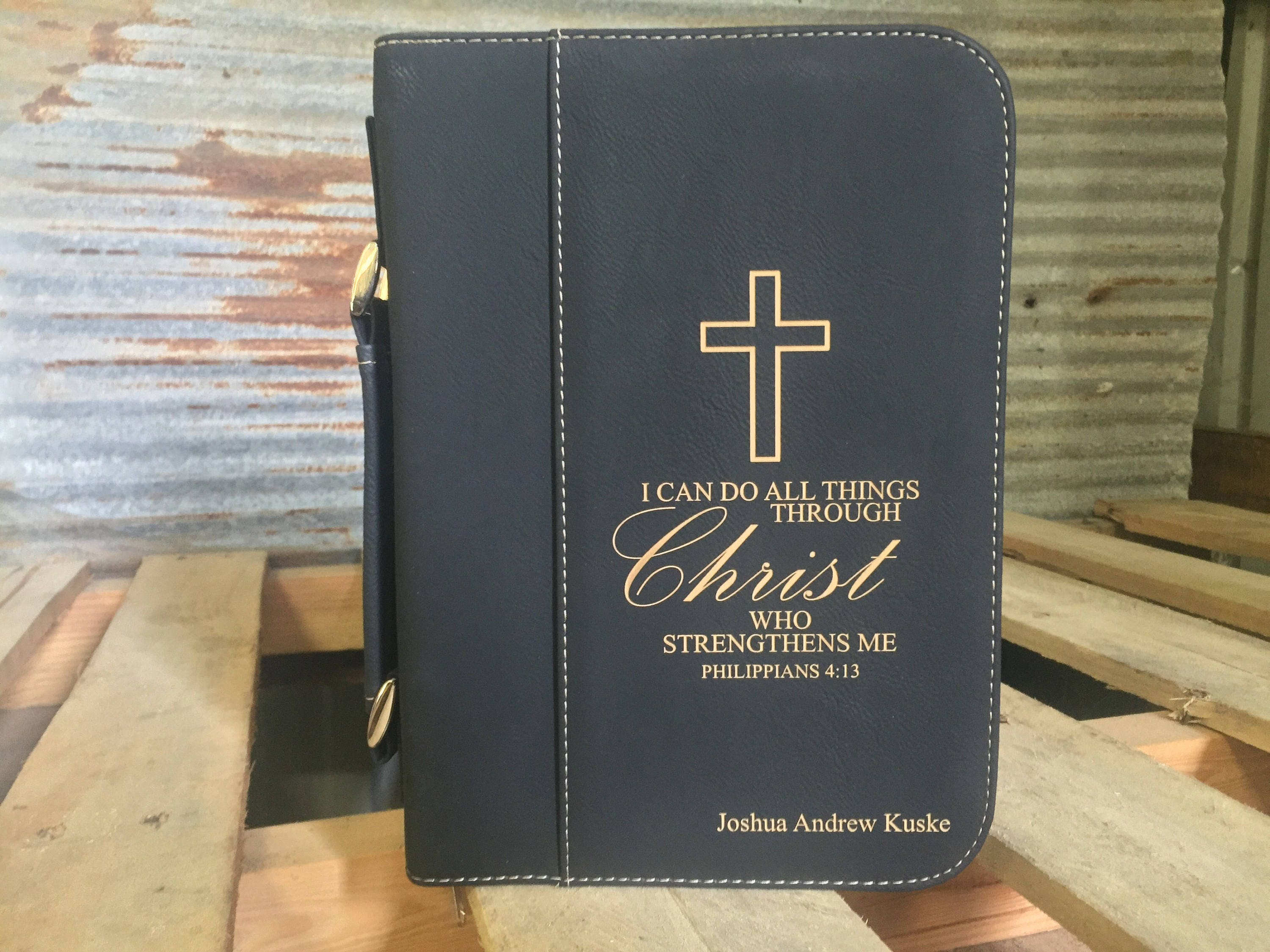 Leather Bible Cover Custom Personalized Book Cover Bible