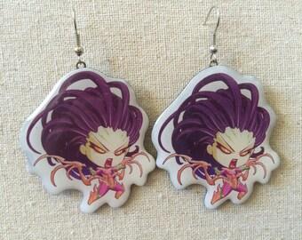Cute but Deadly Queen of Blades Kerrigan Earrings
