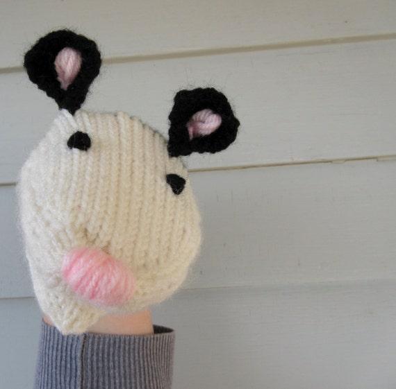 Opossum Hand Puppet Hand Knit ...