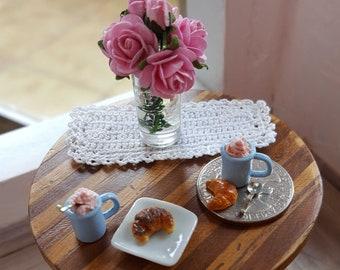 "Strawberry mousse | Dollhouse miniature desserts | Miniature food | 1 "" - 1: 12 scale"