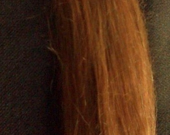 Suri Alpaca  Hair Fibre for doll making Light Auburn