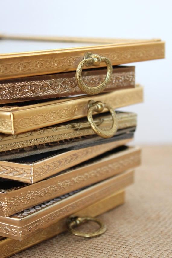 Gold Metal Frames Vintage 8x10 Vintage Rustic Wedding Table Numbers