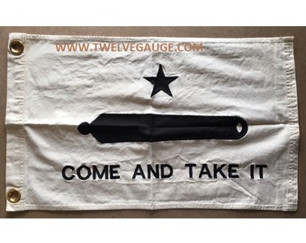 2'x3' Tea Stained Antiqued Come and Take it Flag