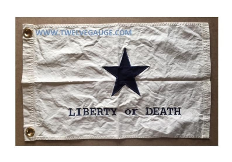 2' x 3' Tea Stained Antiqued Liberty or Death Flag image 0