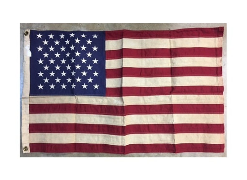 Antiqued 2x3 Tea Stained USA 50 Star Flag image 0