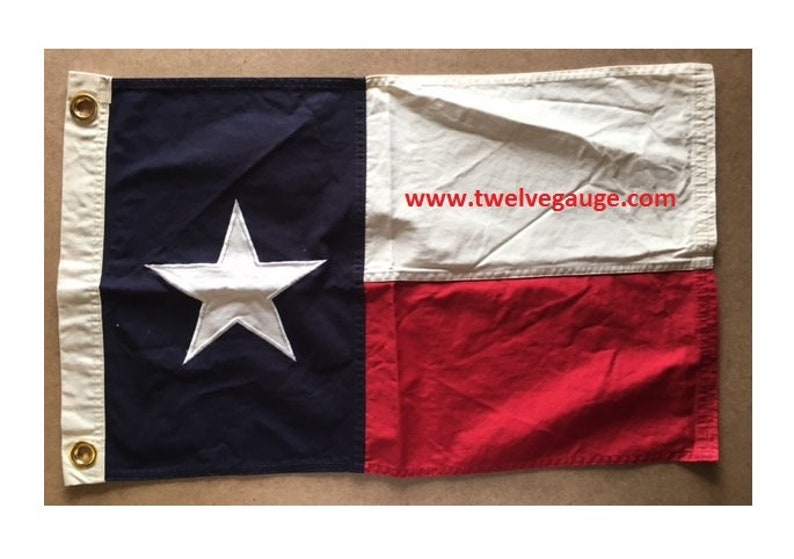 2' X 3' Tea Stained  Antiqued foot Texas flag image 0
