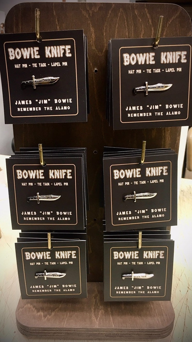 Bowie Knife Pin image 0