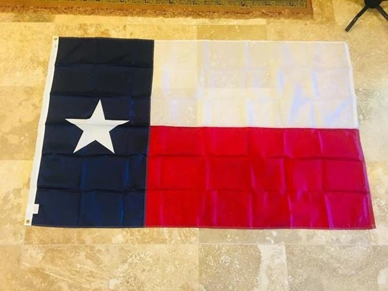 Texas 3x5 210D Nylon Embroidered Flag image 0