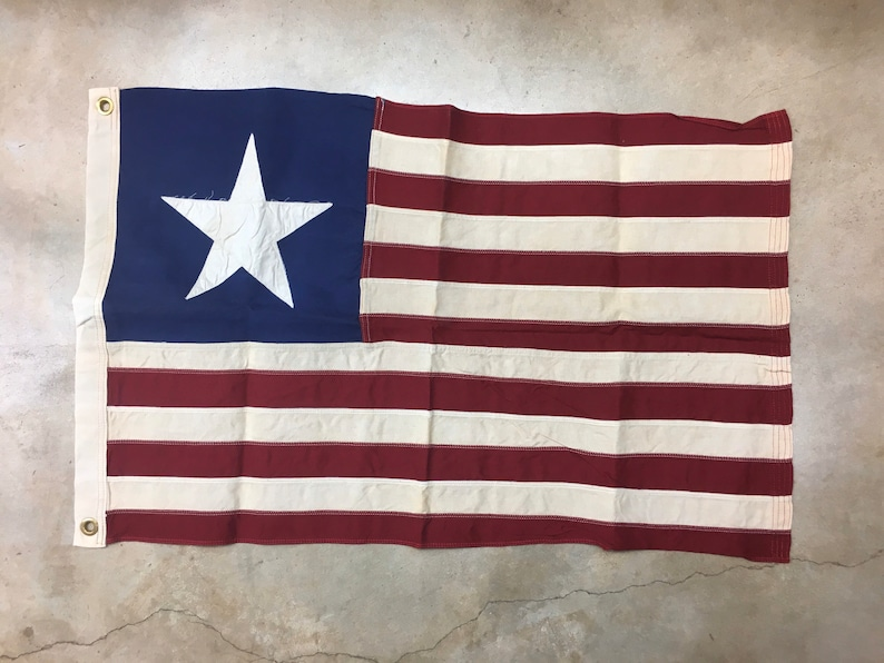 Tea Stained Antiqued Current Texas Navy flag NO-RETURN  image 0