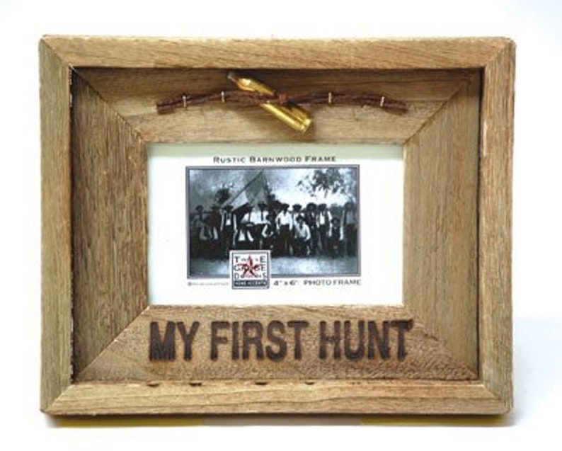 Barn Wood Rustic Picture Frame My First Hunt. Choose your size image 0