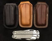 Nays Custom leather open top sheath for the Leatherman Charge